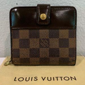 LOUIS VUITTON Damier Ebene Compact Zip Wallet